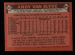 1986 Topps #683  Andy Van Slyke  Back Thumbnail