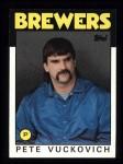 1986 Topps #737  Pete Vuckovich  Front Thumbnail