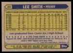 1987 Topps #23  Lee Smith  Back Thumbnail