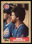 1987 Topps #142  Rick Sutcliffe  Front Thumbnail