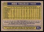1987 Topps #402  Mike Trujillo  Back Thumbnail