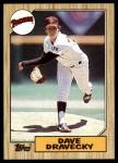 1987 Topps #470  Dave Dravecky  Front Thumbnail
