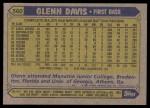 1987 Topps #560  Glenn Davis  Back Thumbnail