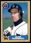 1987 Topps #687  Alan Trammell  Front Thumbnail