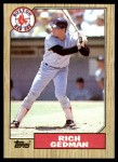 1987 Topps #740  Rich Gedman  Front Thumbnail