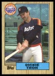 1987 Topps #386  Dickie Thon  Front Thumbnail