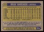 1987 Topps #578  Billy Hatcher  Back Thumbnail
