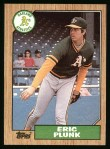 1987 Topps #587  Eric Plunk  Front Thumbnail