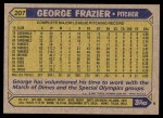 1987 Topps #207  George Frazier  Back Thumbnail