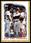 1987 Topps #306   -  Tom Seaver Red Sox Leaders Front Thumbnail