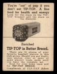 1947 Tip Top Bread  Aaron Robinson  Back Thumbnail