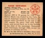 1950 Bowman #169  Hank Edwards  Back Thumbnail
