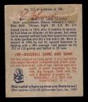 1949 Bowman #111  Red Schoendienst  Back Thumbnail
