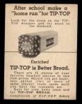 1947 Tip Top Bread  Joe Page  Back Thumbnail