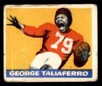 1948 Leaf #20 YEL George Taliaferro  Front Thumbnail