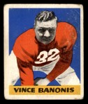 1948 Leaf #8 BN Vince Banonis  Front Thumbnail