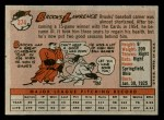1958 Topps #374  Brooks Lawrence  Back Thumbnail