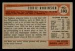 1954 Bowman #193  Eddie Robinson  Back Thumbnail