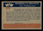 1959 Fleer #6   -  Ted Williams  Turns Pro Back Thumbnail