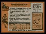 1975 Topps #42  Dennis Ververgaert   Back Thumbnail