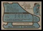 1979 Topps #242  Billy Smith  Back Thumbnail