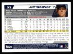 2004 Topps #33  Jeff Weaver  Back Thumbnail