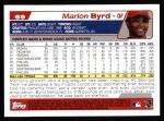 2004 Topps #69  Marlon Byrd  Back Thumbnail