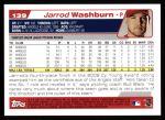 2004 Topps #139  Jarrod Washburn  Back Thumbnail