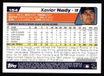 2004 Topps #154  Xavier Nady  Back Thumbnail
