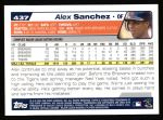 2004 Topps #437  Alex Sanchez  Back Thumbnail