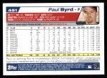 2004 Topps #451  Paul Byrd  Back Thumbnail
