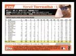 2004 Topps #470  Yorvit Torrealba  Back Thumbnail