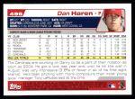 2004 Topps #496  Dan Haren  Back Thumbnail