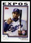 2004 Topps #566  Carl Everett  Front Thumbnail