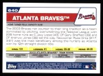 2004 Topps #640   Atlanta Braves Team Back Thumbnail