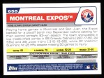 2004 Topps #655   Montreal Expos Team Back Thumbnail