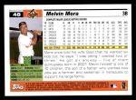 2005 Topps #48  Melvin Mora  Back Thumbnail