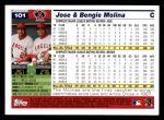 2005 Topps #101  Jose / Bengie Molina  Back Thumbnail