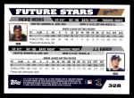 2005 Topps #328  Rickie Weeks / J.J. Hardy  Back Thumbnail