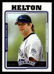 2005 Topps #385  Todd Helton  Front Thumbnail