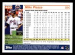 2005 Topps #450  Mike Piazza  Back Thumbnail