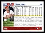 2005 Topps #481  Chase Utley  Back Thumbnail