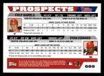 2005 Topps #689   -  Ryan Howard / Cole Hamels Mariners Prospects Back Thumbnail