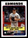2005 Topps #710   -  Jim Edmonds Golden Glove Front Thumbnail