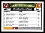 2008 Topps #24   -  Alex Rodriguez / Magglio Ordonez / Vladimir Guerrero AL RBI Leaders Back Thumbnail