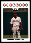 2008 Topps #30  Jimmy Rollins  Front Thumbnail