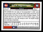 2008 Topps #62  Rich Thompson  Back Thumbnail