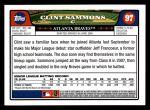 2008 Topps #97  Clint Sammons  Back Thumbnail