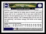 2008 Topps #333  Jayson Nix  Back Thumbnail