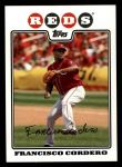 2008 Topps #595  Francisco Cordero  Front Thumbnail